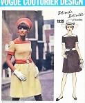 1960s CUTE Mod Belinda Bellville Dress Pattern VOGUE COUTURIER Design 1929  Bust 38 Vintage Sewing Pattern