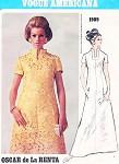 1960s FAB Oscar de La Renta Evening Maxi Gown or Day Dress Pattern VOGUE AMERICANA Striking Neckline Classy Design Bust 36 Vintage Sewing Pattern