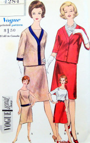 1960s STYLISH Suit and Blouse Pattern VOGUE SPECIAL DESIGN 4284 Easy Elegance Bust 31 Vintage Sewing Pattern