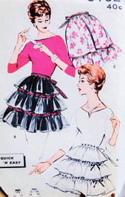 Vintage Quick n Easy Apron Pattern Butterick 9192 Plain or Fancy Ruffled Hostess  Aprons 3 Versions Vintage Sewing Pattern One Size