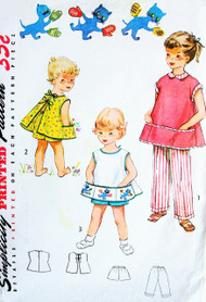 Simplicity 4384 Child's Apron, Shorts and Pants, Includes Applique Transfer