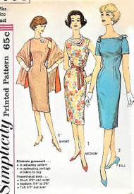 1960s MAD MEN Era Simplicity 3793 Sleeveless Sheath Dress Bust 36 Vintage Sewing Pattern UNCUT