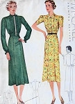 1930s TAILORED DRESS PATTERN 2 STYLES McCALL 9338