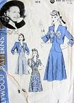 1940s  CUTE DRESS, BOLERO JACKET PATTERN HOLLYWOOD MOVIE STAR PRISCILLA LANE