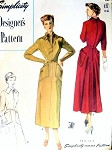 1940s TAILORED DRESS PATTERN  GRACEFUL FLARED BACK LARGE POCKETS SIMPLICITY DESIGNERS PATTERNS 8178