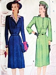 1940S DRESS WITH DICKEY VINTAGE PATTERN MCCALL 5495