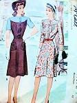 1940s McCALL 4757 DRESS PATTERN 2 PRETTY STYLES