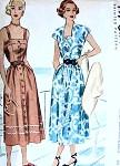 1940s Pretty Sun Dress and Bolero Jacket Pattern McCALL 7301 Front Button Dress  Bust 34 Vintage Sewing Pattern