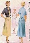 1940s DRESS, JACKET PATTERN LOVELY STYLE McCALL 7581