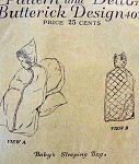 ANTIQUE BABY LAYETTE SLEEPING BAG 1910S BUTTERICK PATTERN 4077