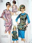 1960s COBBLER APRON PATTERN FABRIC or VINYL SIMPLICITY 6809 VINTAGE SEWING PATTERN UNCUT Ladies  and Childrens Sizes Available