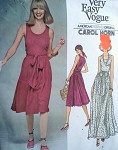 70s Vogue 1410 Carol Horn Wrap Dress Vintage Sewing Pattern Very Easy Wrap n Tie Dress Day Length or Maxi Evening Wrapped Dress Vintage Sewing Pattern