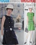 1960s SLIM MOD JACQUES HEIM DRESS PATTERN VOGUE PARIS ORIGINAL 1949