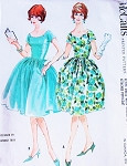 60s DAZZLING Hannah Troy Evening Party Dress Pattern McCalls 5733 Full or Bubble Skirt Bust 34 Vintage Sewing Pattern