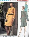 1970s UNGARO Dress Tunic Pants Pattern VOGUE PARIS ORIGINAL 2630 Bust 34 Vintage Sewing Pattern