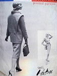 1950s RARE PATOU FIGURE HUGGING DRESS, JACKET PATTERN VOGUE PARIS ORIGINAL 1396