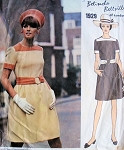 RESERVED For  Rosemary CUTE 1960s DRESS PATTERN BELINDA BELLVILLE VOGUE COUTURIER DESIGN