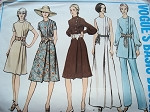 1970s CLASSY DRESS, TUNIC , PANTS PATTERN SIDE PLEATED VOGUE BASIC DESIGN 2506