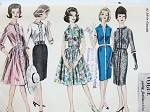 1960s Slim or Full Skirt Dress Pattern VOGUE YOUNG FASHIONABLES 5548 Five Fab Styles Bust 31 Vintage Sewing Pattern