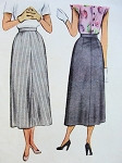 1940s  Skirt Pattern McCall 7307 Slim Style Skirt Easy To Make Only 3 Pcs Waist 28 Vintage Sewing Pattern