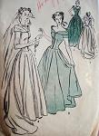 1940s DRAMATIC WEDDING GOWN BRIDAL DRESS PATTERN ADVANCE 4521
