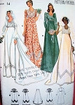 1970s HIGH WAISTED EMPIRE BRIDAL GOWN WEDDING  DRESS PATTERN