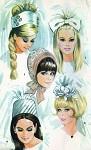 1960s Mod  BRIDAL CAPS, VEILS  Wedding Head Pieces Pattern Five Styles  McCALLS 8687 Vintage Sewing Pattern