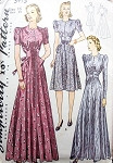 SIMPLICITY PATTERN 3475 BEAUTIFUL Late 1930s  HOUSECOAT ROBE LOUNGING  Hostess Gown Vintage Sewing Pattern Bust 34