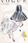 1950s FLIRTY Petticoat Slip Pattern VOGUE 8299 Deep Circular Flounce Beautiful Design One Size Vintage Sewing Pattern
