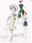 1950s Beach Weekend Wear Pattern BUTTERICK 7760 Flattering Dress or Tunic Blouse Princess Fitted Mandarin Collar Little Boy Shorts  Side Slits Midriff Top Bust 34 Vintage Sewing Pattern FACTORY FOLDED