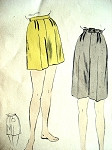 1950s  SHORTS PATTERN SHORT or KNEE LENGTH VOGUE 8286