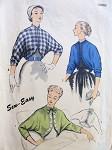 1950s BOLERO or LOUNGING JACKETS PATTERN 3 VERSION STYLES SEW EASY ADVANCE 6281