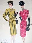 1940s War Time WW II Dress Pattern VOGUE COUTURIER DESIGN 245 Vintage Sewing Pattern Bust 32