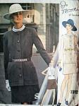 60s DRESS and JACKET PATTERN JO MATTLI VOGUE COUTURIER DESIGN 2312 Vintage Sewing Pattern Vogue Sew In Label Bust 32.5