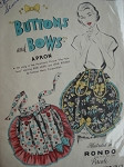 CUTE 1950s BUTTONS and BOWS APRON PATTERN