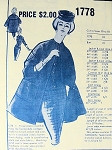 1950s MODES ROYALE PATTERN 1778 THREE PC ENSEMBLE, SLIM SKIRT SUIT CARDIGAN NECKLINE FITTED JACKET, LOVELY FLARED COAT