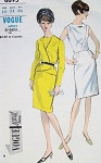 1960s SLIM DRESS, JACKET PATTERN  STUNNING STYLE VOGUE SPECIAL DESIGN 6695