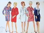 1960s SLIM SHIRTDRESS PATTERN BUTTERICK PATTERNS 4456