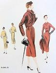 1950s SLIM DRESS, BOLERO JACKET PATTERN CLASSY DETAILS VOGUE SPECIAL DESIGN 4341