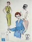 1950s SLIM DRESS ATTACHED BOLERO PATTERN ONLY 2 PCS QUICK n EASY WALK AWAY DRESS BUTTERICK PATTERNS 6477
