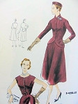 1950s DRESS, FITTED JACKET PATTERN VOGUE SPECIAL DESIGN PATTERNS 4258