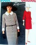 1960s SLIM MOLYNEUX SHIRT DRESS PATTERN FRONT BUTTON, CLASSY STYLE VOGUE PARIS ORIGINAL PATTERNS 1815