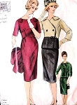 1960s FABIANI Dress or Suit Pattern Vogue Couturier Design Pattern 1010  Stunning Side Closing Jacket Daytime or Evening Bust 36 Vintage Sewing Pattern