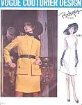 60s MOD A LINE DRESS, JACKET PATTERN VOGUE COUTURIER Design 2432 Vintage Sewing Pattern  PERTEGAZ