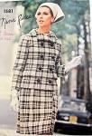 1960s NINA RICCI  MOD SUIT, BLOUSE PATTERN LONGER DOUBLE BREASTED JACKET, SLIM SKIRT WRAP STYLE, BIAS OVERBLOUSE VOGUE PARIS ORIGINAL 1581 UNCUT Sew In LABEL Bust 31