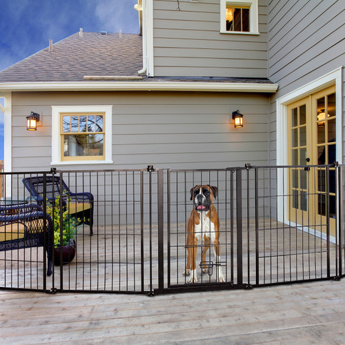 outdoor super wide pet gate