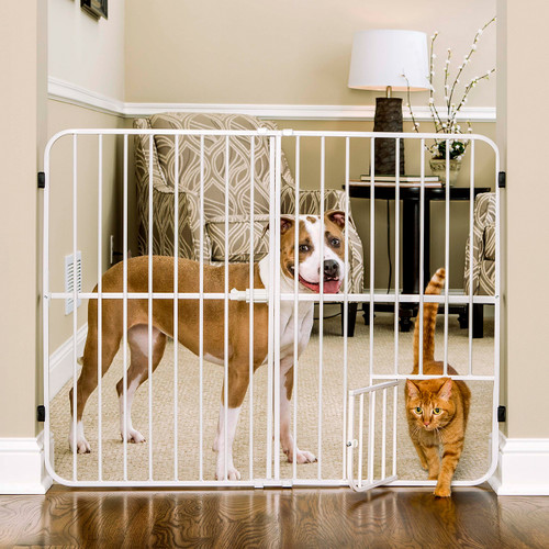 expandable step over pet gate