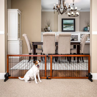 small freestanding pet gate