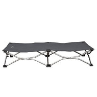 Gray large portable dog cot