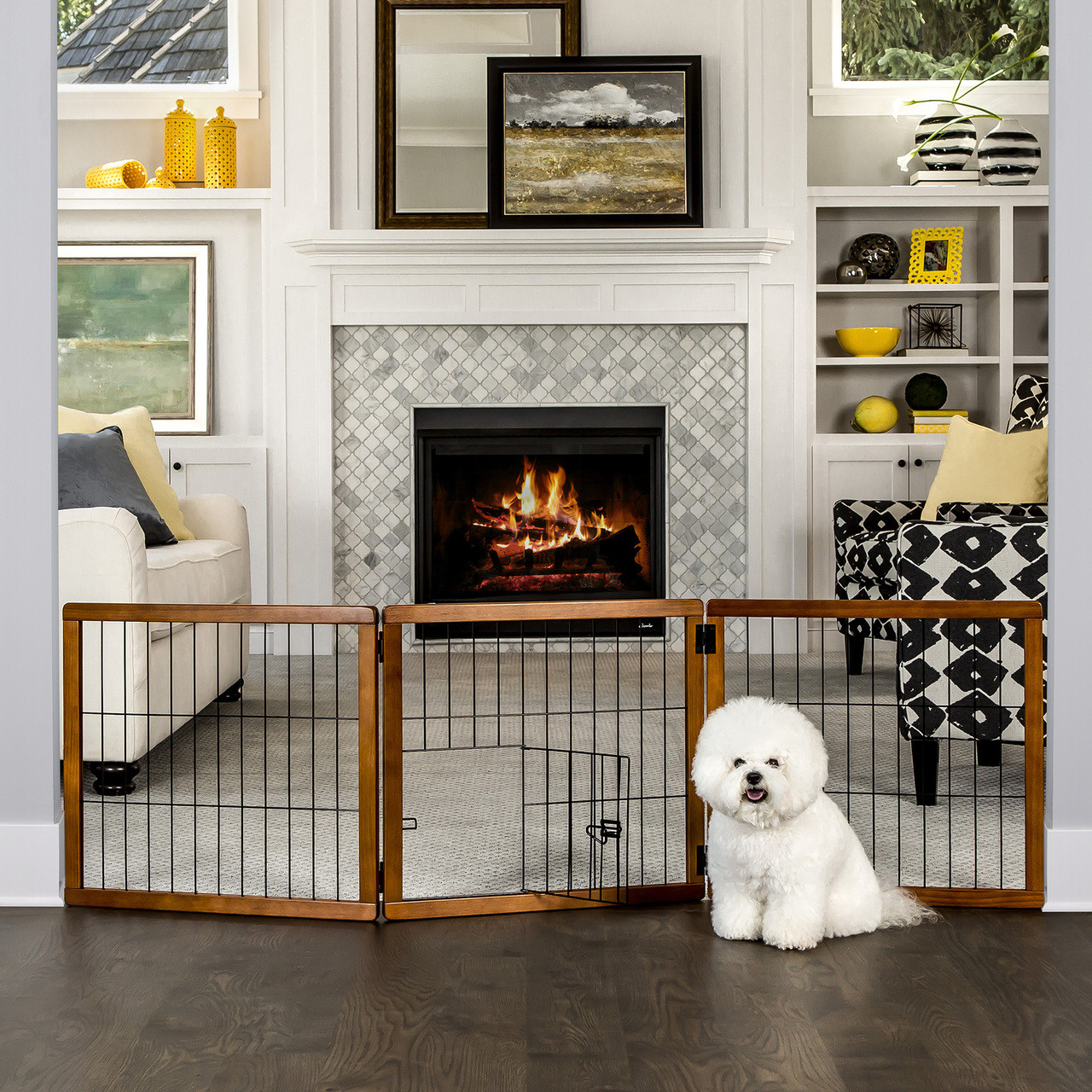 carlson small breed foldable freestanding pet gate